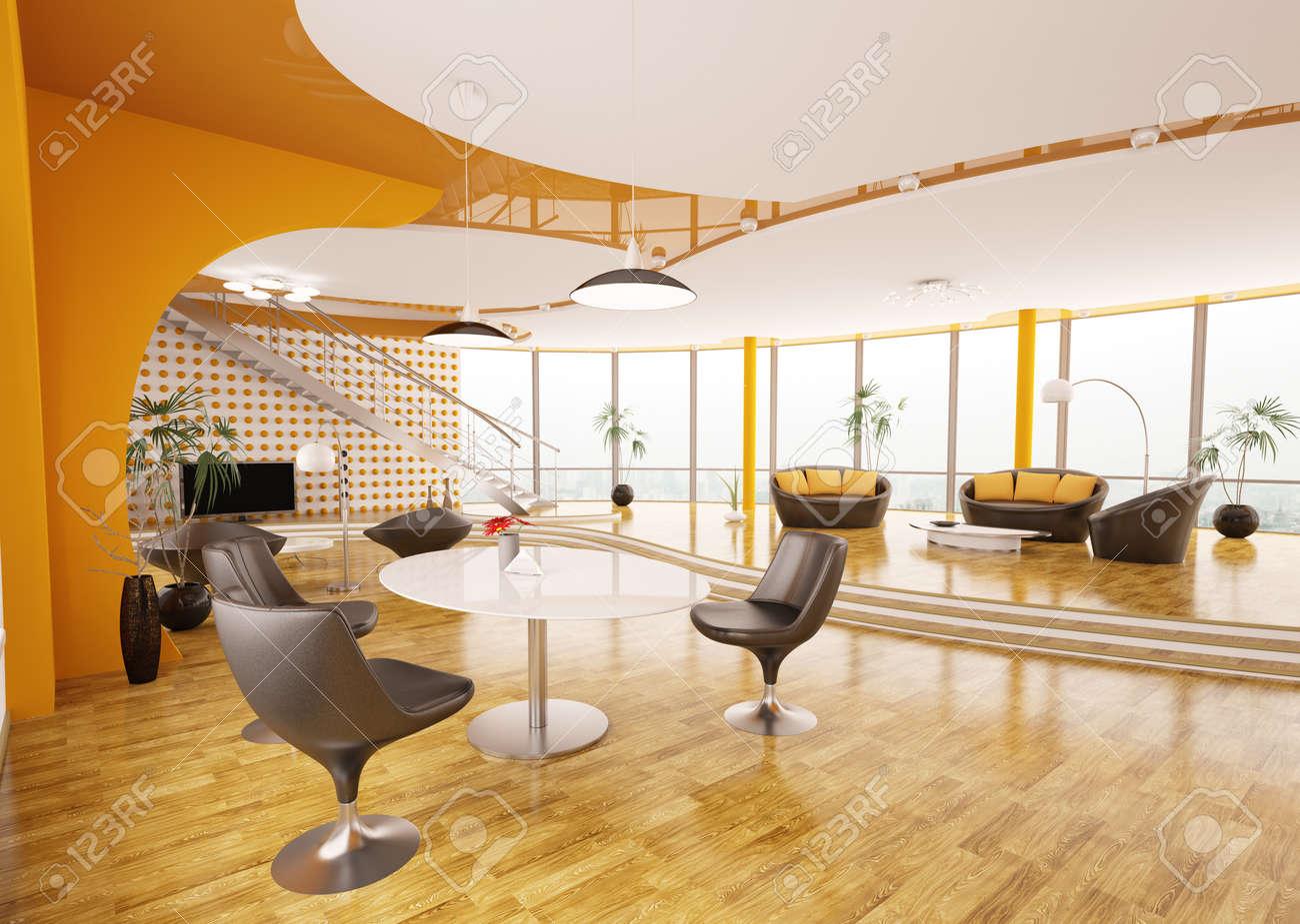 Interieur Design Moderner Wohnung Urbanen Stil