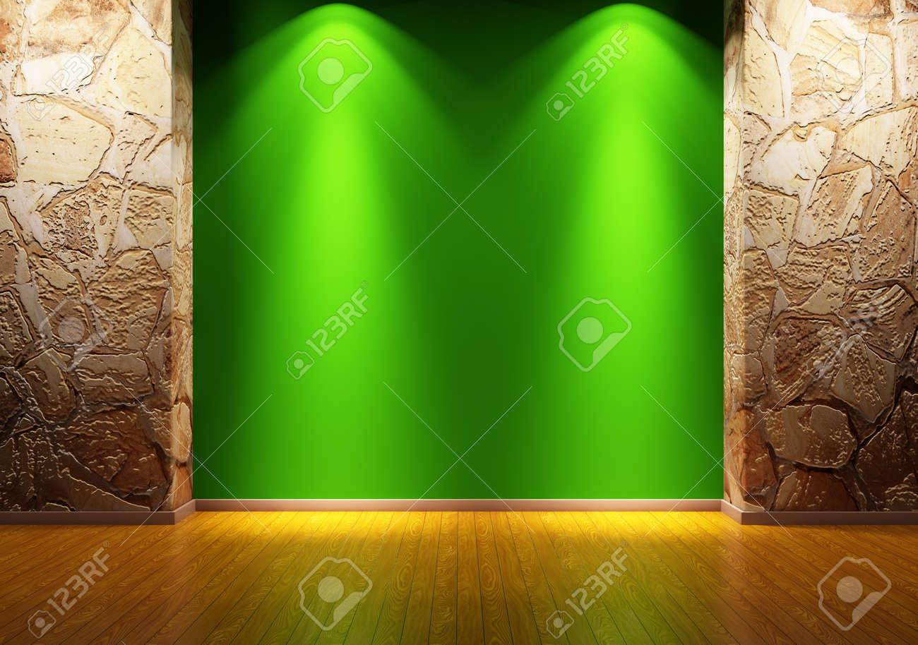 Empty room interior 3d render Stock Photo - 9871524