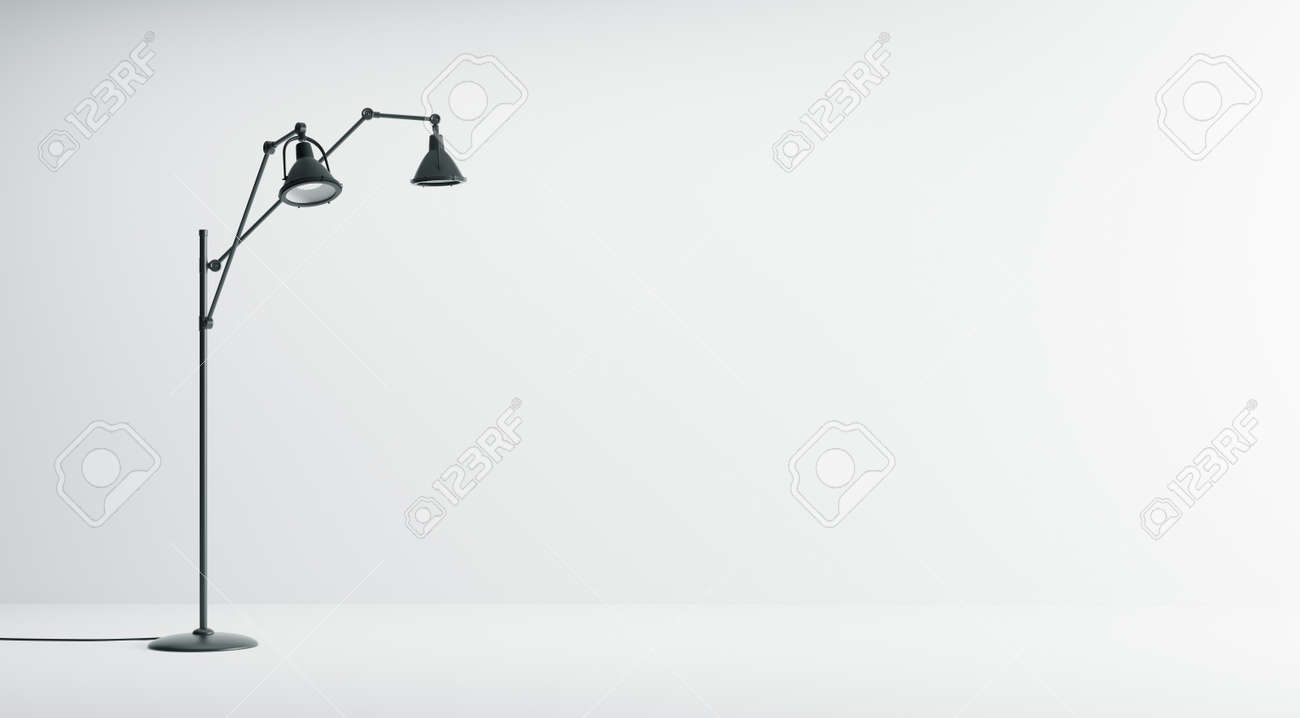Modern white interior background with black floor lamp isolated modern white interior background with black floor lamp isolated 3d rendering stock photo 57605471 mozeypictures Images