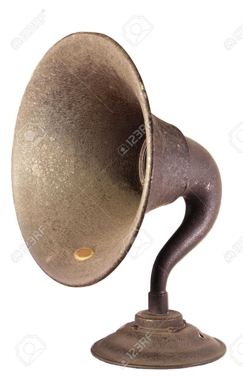 der lautsprecher horn von einem frühen, ausgesetzt rohr, regal art