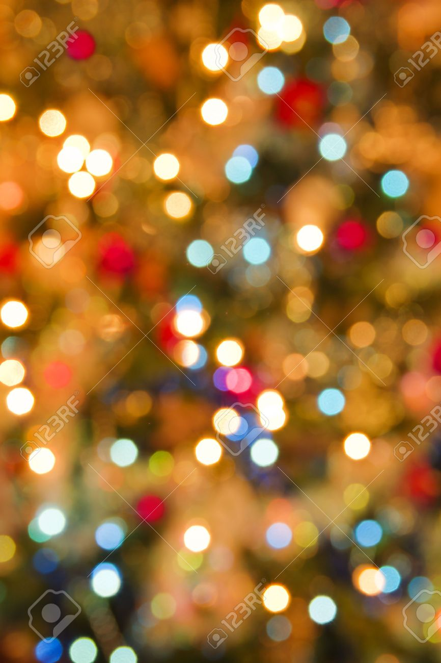 Christmas Light Blur Background Stock Photo, Picture And Royalty ...