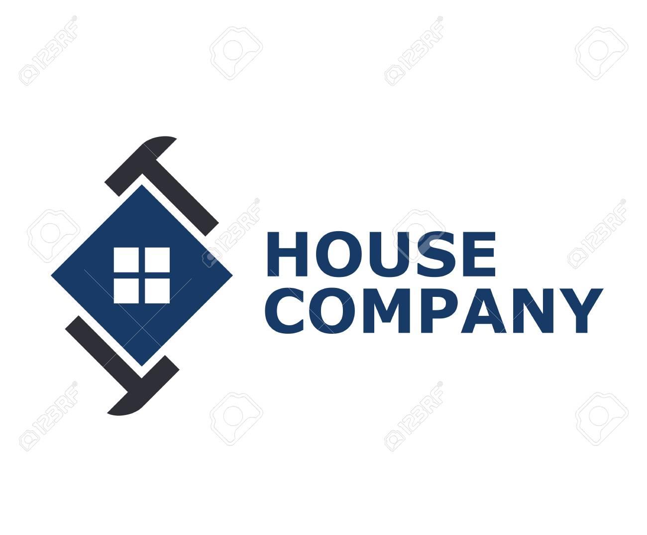 Logo Design Idea Concept Illustration For Construction Building