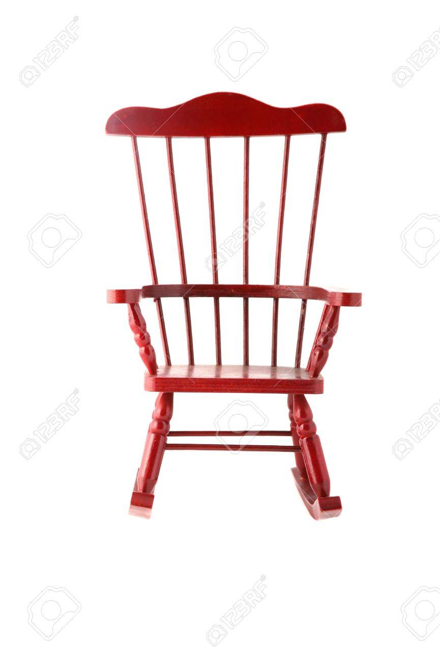Awe Inspiring Beautiful Red Rocking Chair Made Out Of Cherry Wood Squirreltailoven Fun Painted Chair Ideas Images Squirreltailovenorg