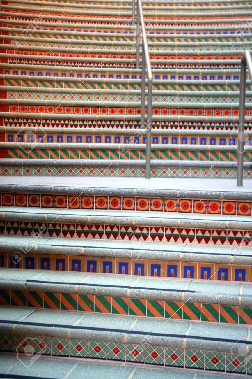 Colorful patterned stairs with ceramic tiles stock photo picture colorful patterned stairs with ceramic tiles stock photo 632454 dailygadgetfo Images