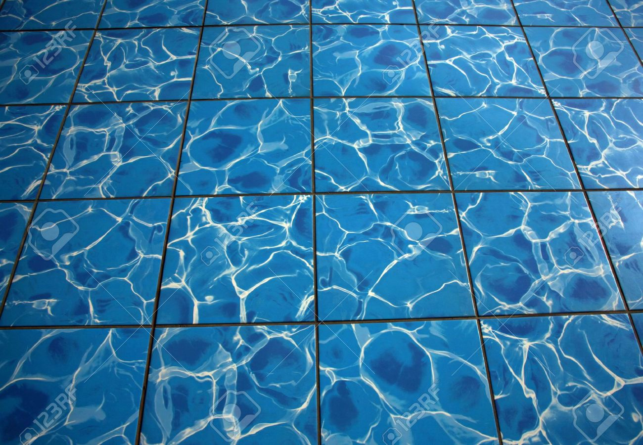 Floor tile with grout that looks like water