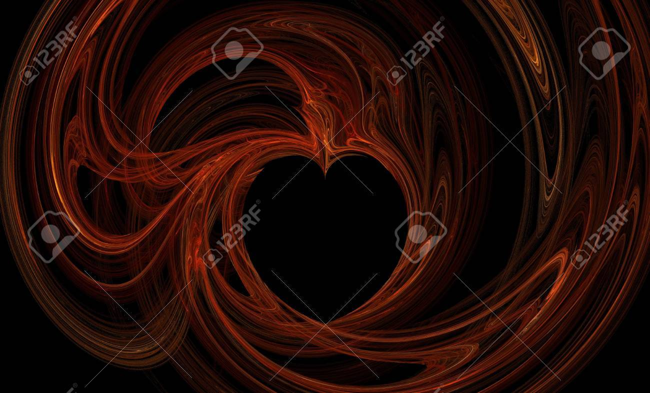 Abstract black background with beautiful and colorful heart pattern Stock Photo - 854424