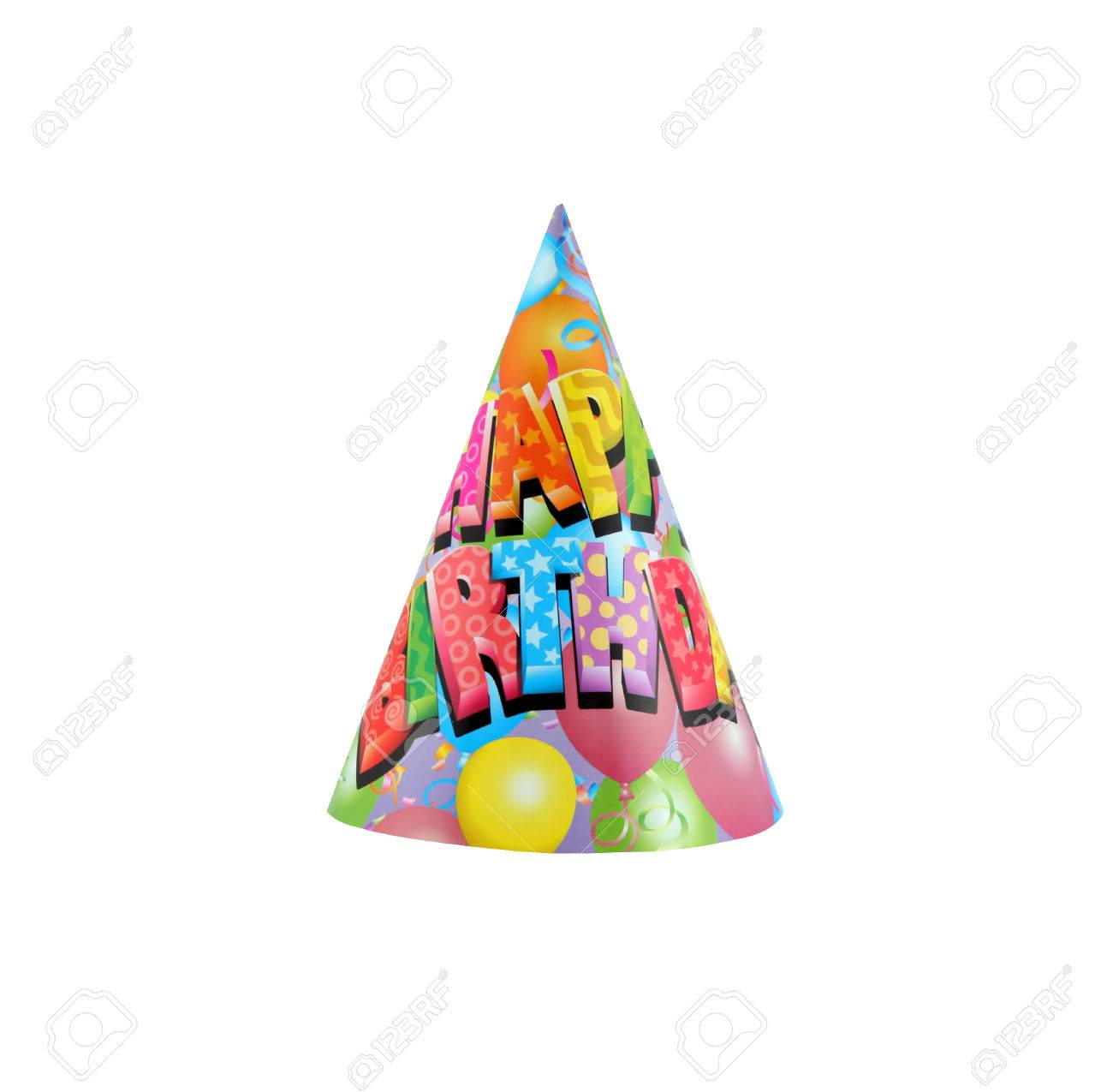 Colorful Party Hat Colorful Party Hat With Happy