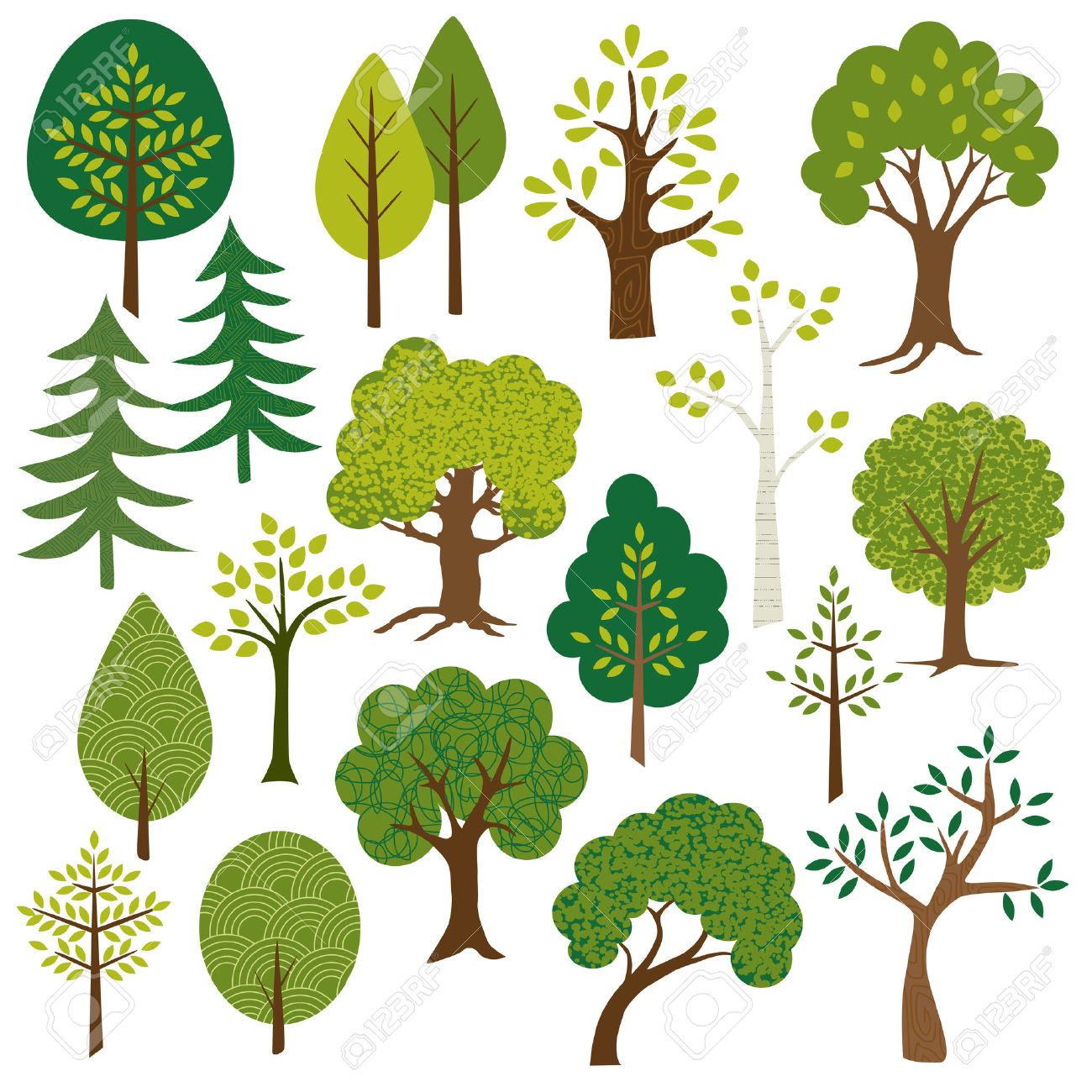 trees clipart - 35573202