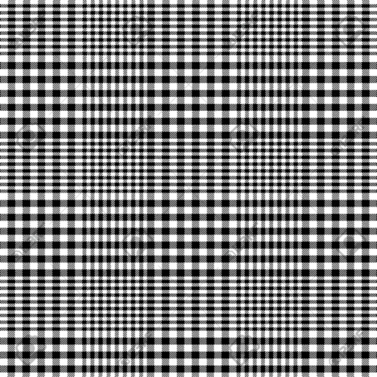 black and white glen plaid pattern - 35816472