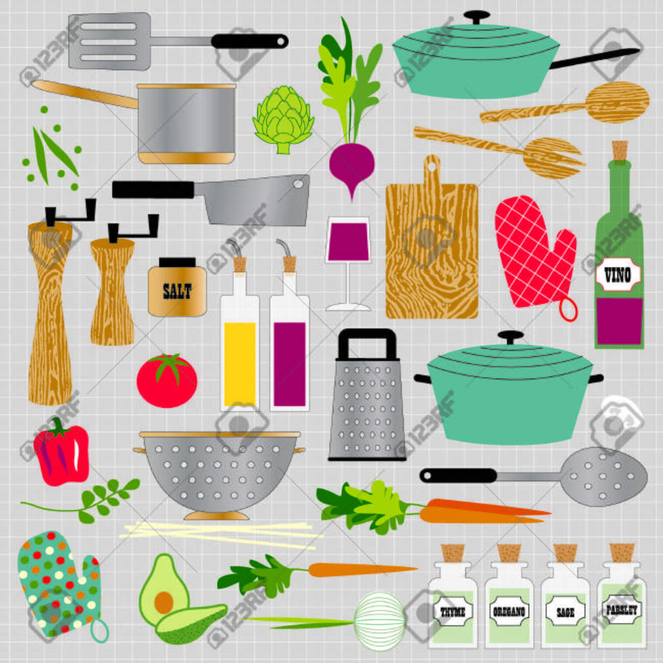 Kitchen Cooking Clipart Royalty Free Cliparts Vectors And Stock Illustration Image 35857761