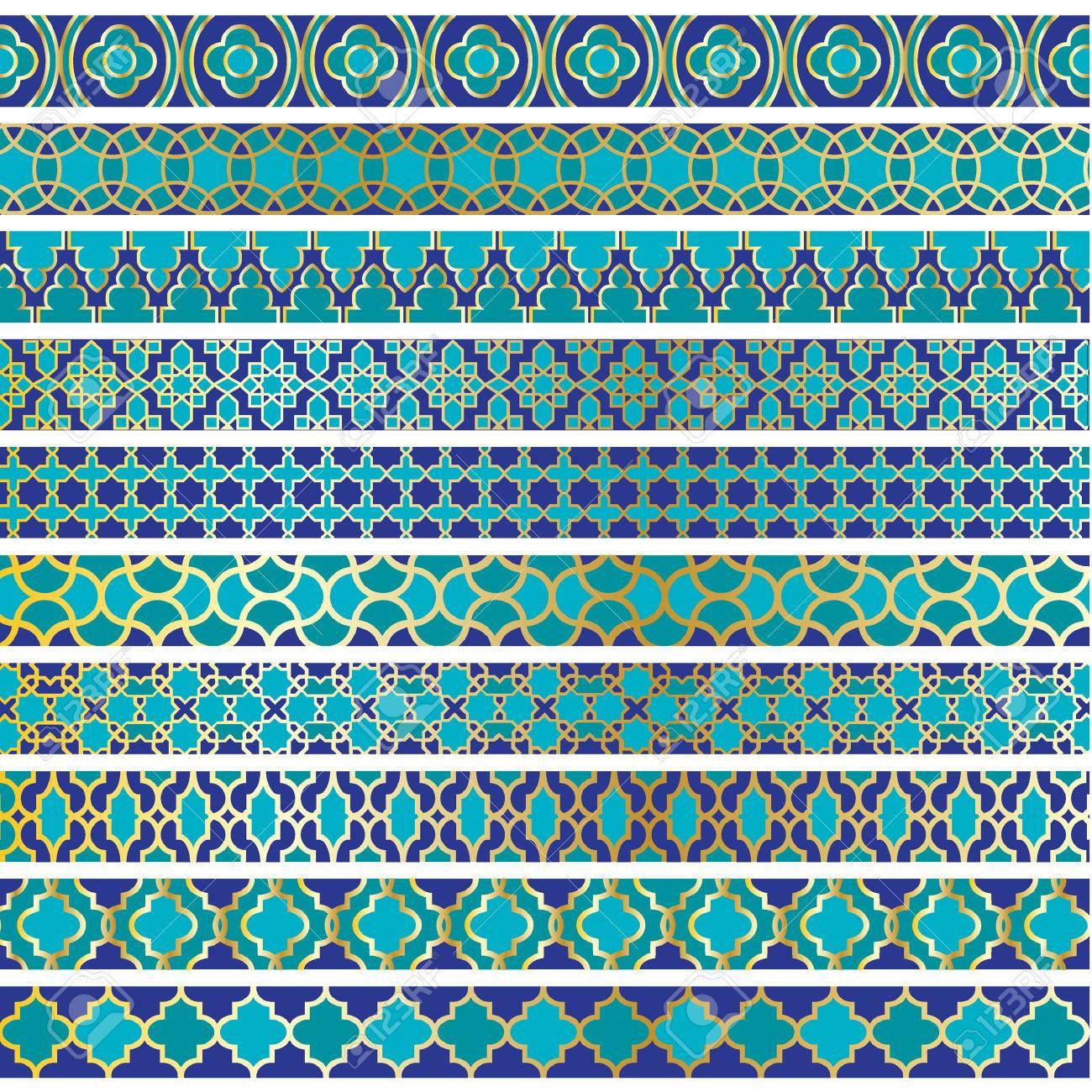 blue moroccan borders - 36005524