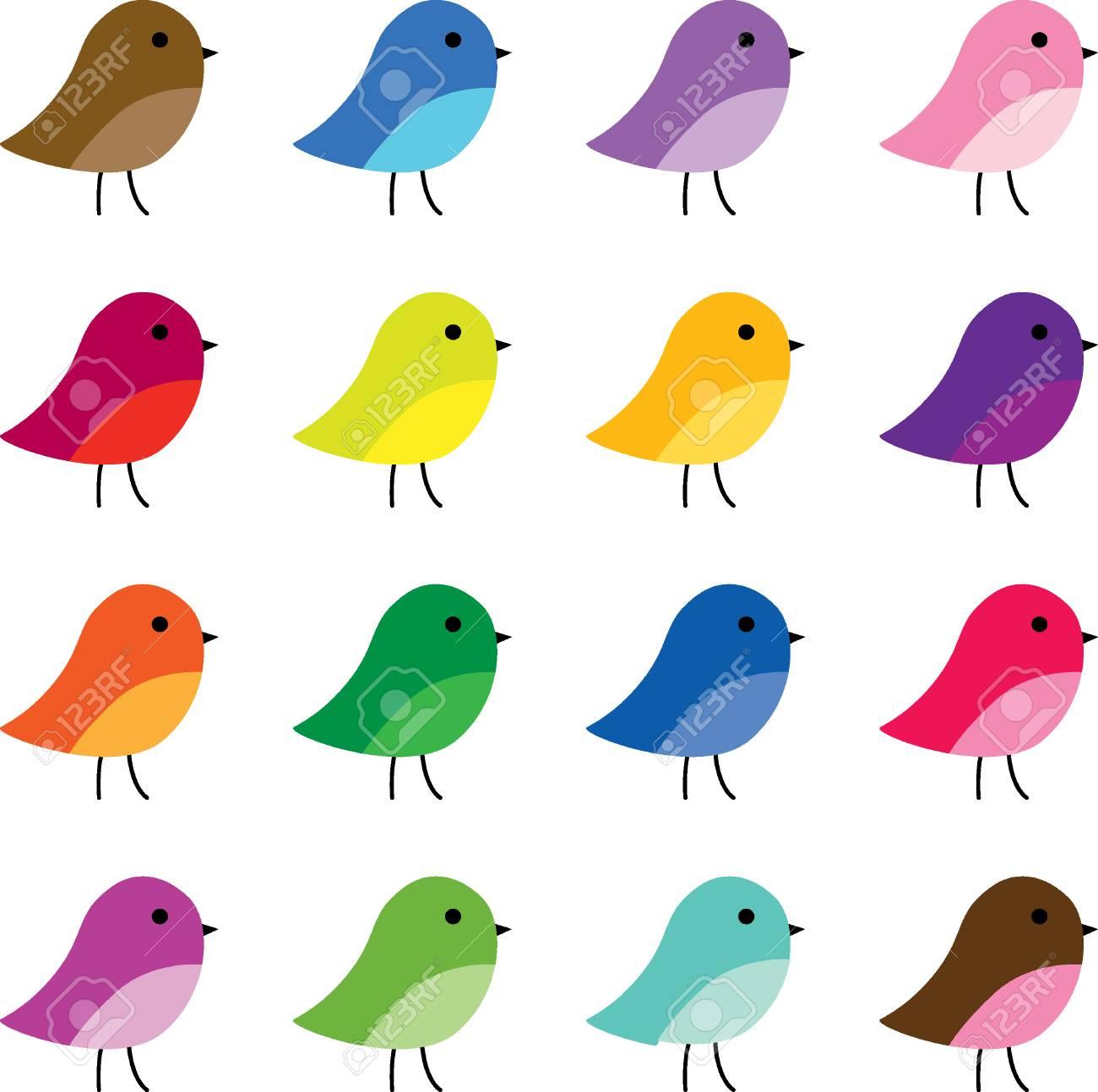 かわいい鳥のクリップアートのイラスト素材ベクタ Image 58135209