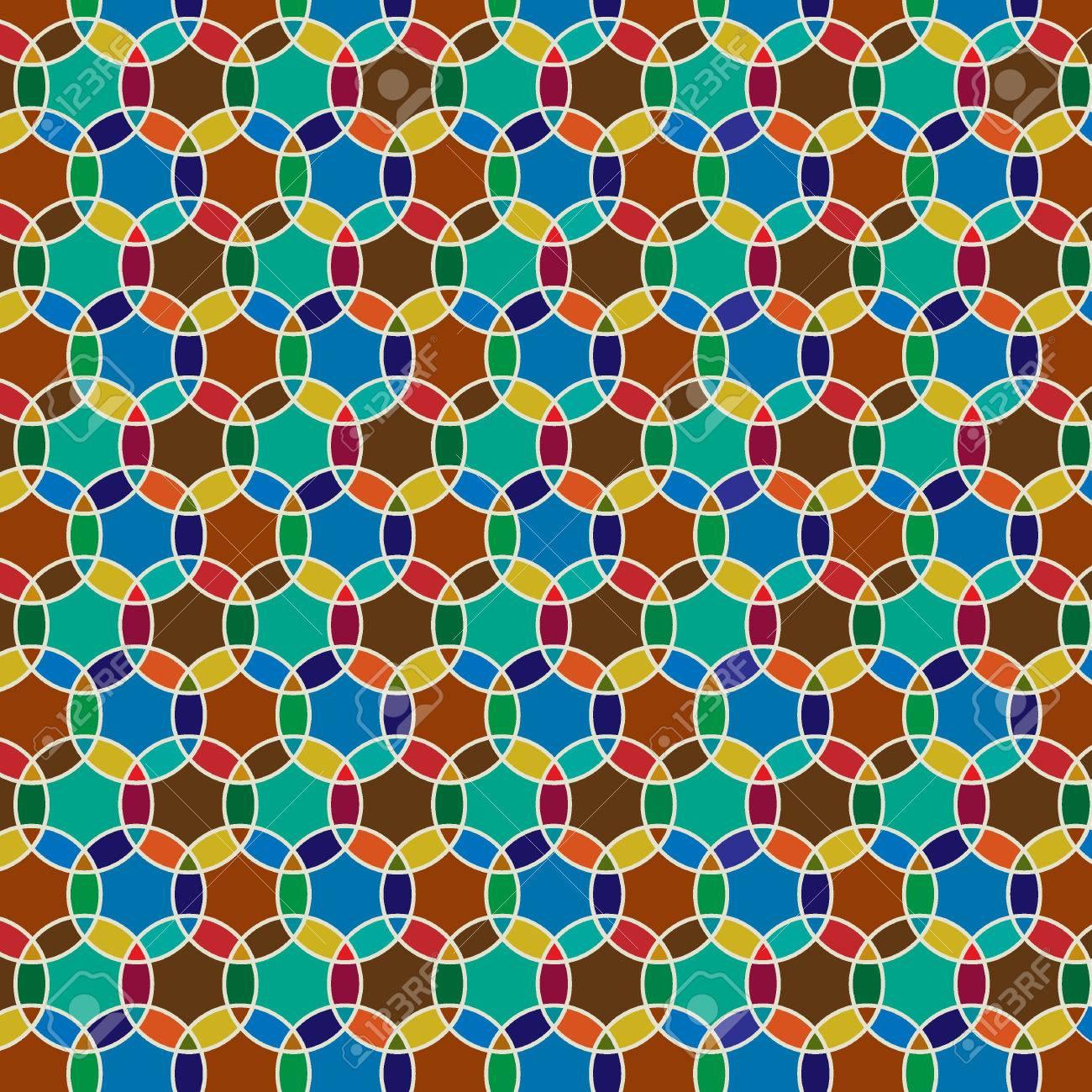Circle Tiles Interlocking Moroccan Circle Tiles Royalty Free Cliparts Vectors