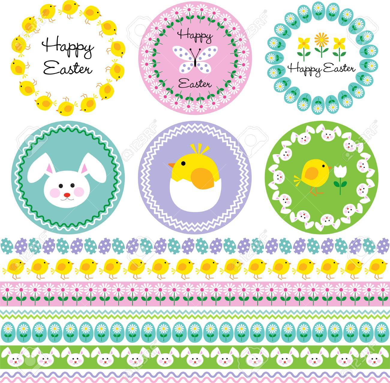 Easter Frames And Borders Royalty Free Cliparts, Vectors, And Stock ...