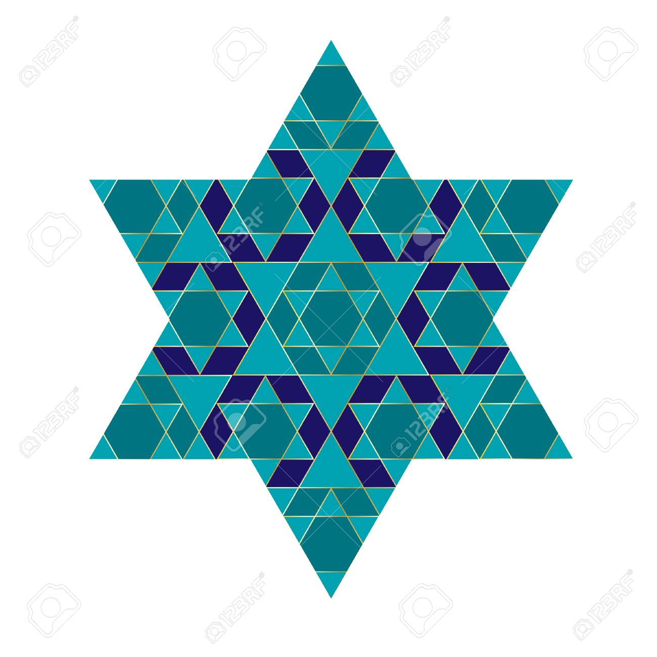 turquoise blue and gold jewish star royalty free cliparts vectors rh 123rf com Jewish People Clip Art Emotions Clip Art
