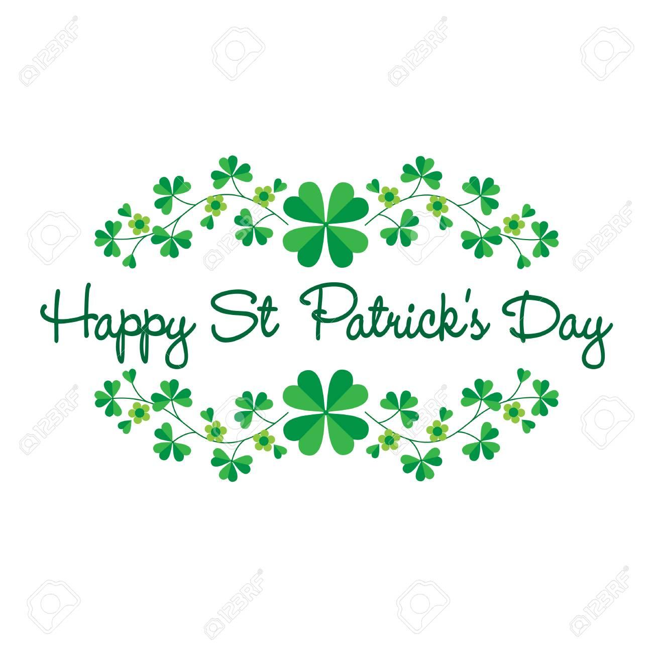 Saint Patricks Day graphic with border pattern - 95926454