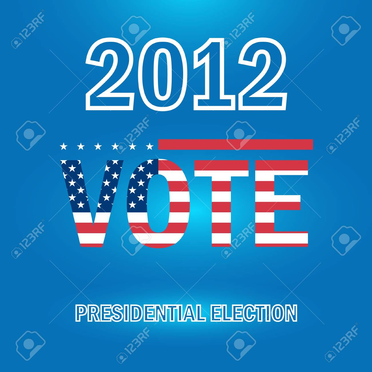 United States Presidential Election in 2012 Stock Vector - 15756693
