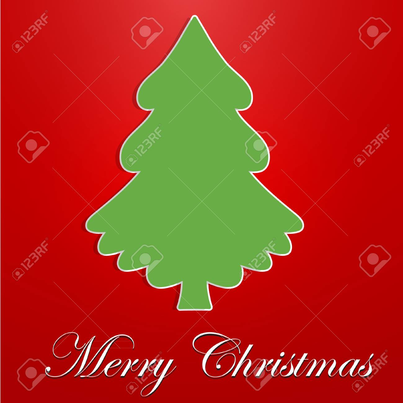 A stylized, Green Christmas Tree Stock Vector - 16594758