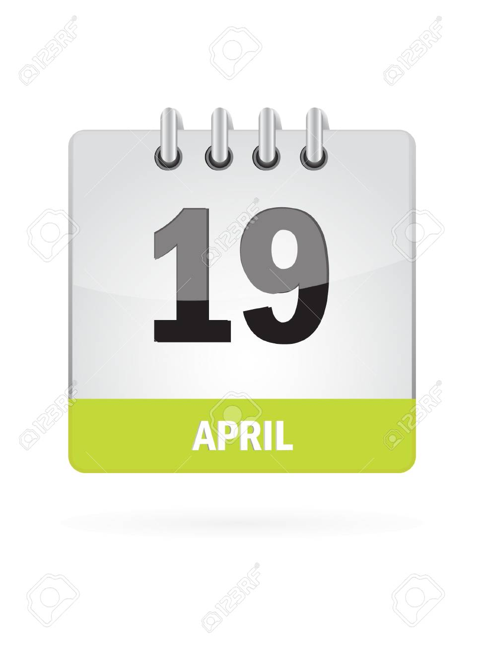 19 April Calendar Icon On White Background Stock Vector - 17883072