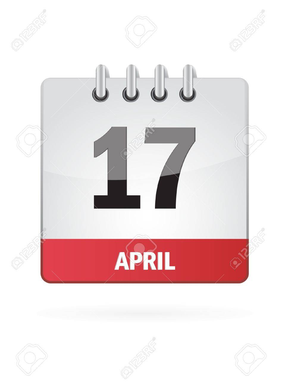 17 April Calendar Icon On White Background Stock Vector - 17882796