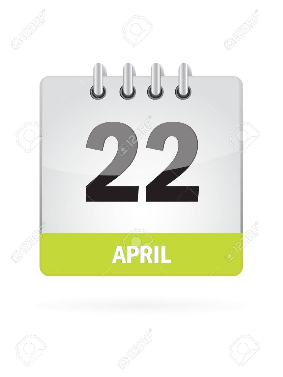 22 April Calendar Icon On White Background Stock Vector - 17882930