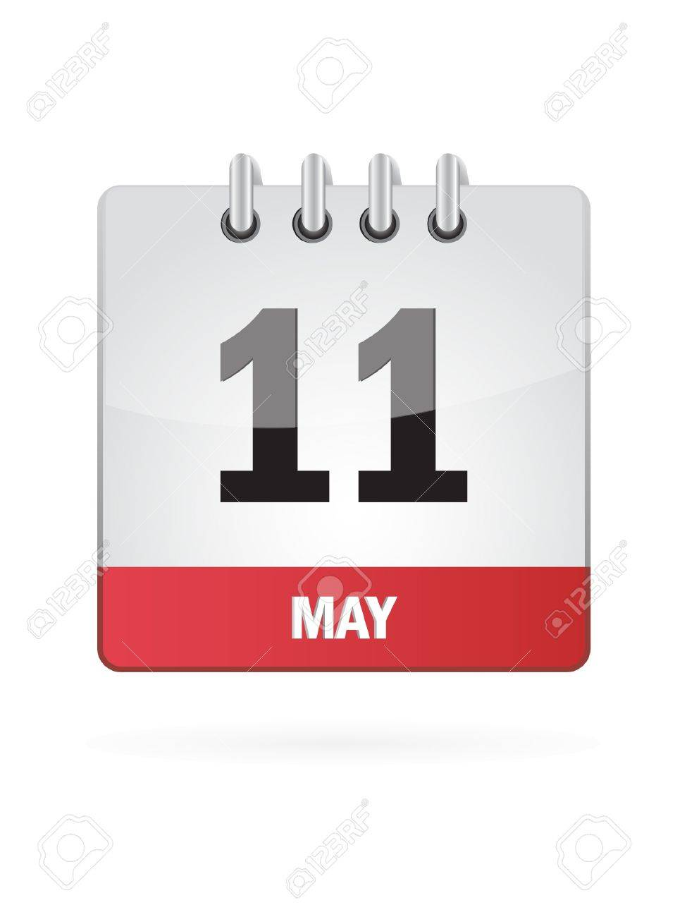 11 May Calendar Icon On White Background Stock Vector - 18392746