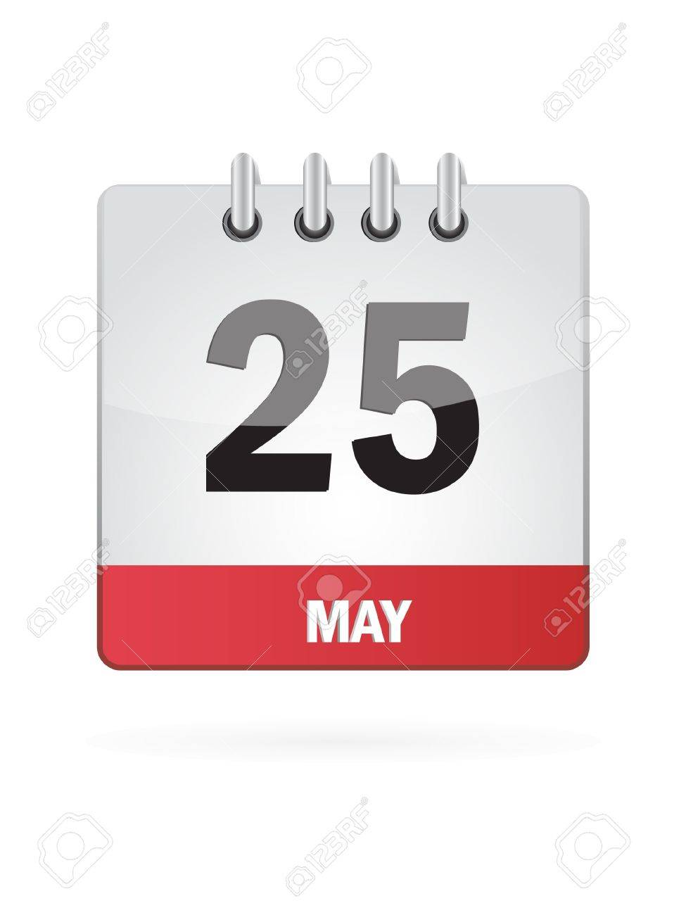 25 May Calendar Icon On White Background Stock Vector - 18392761