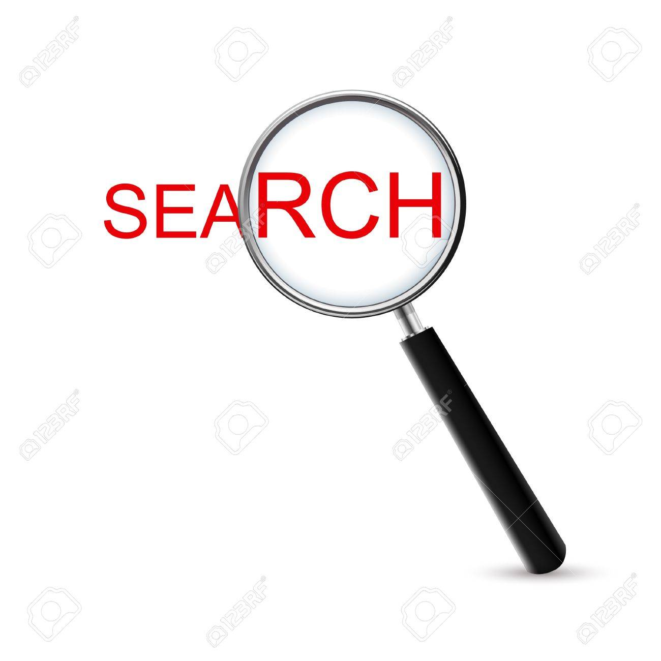 Magnifying Glass-Search, Isolated On White Background Stock Vector - 18569641