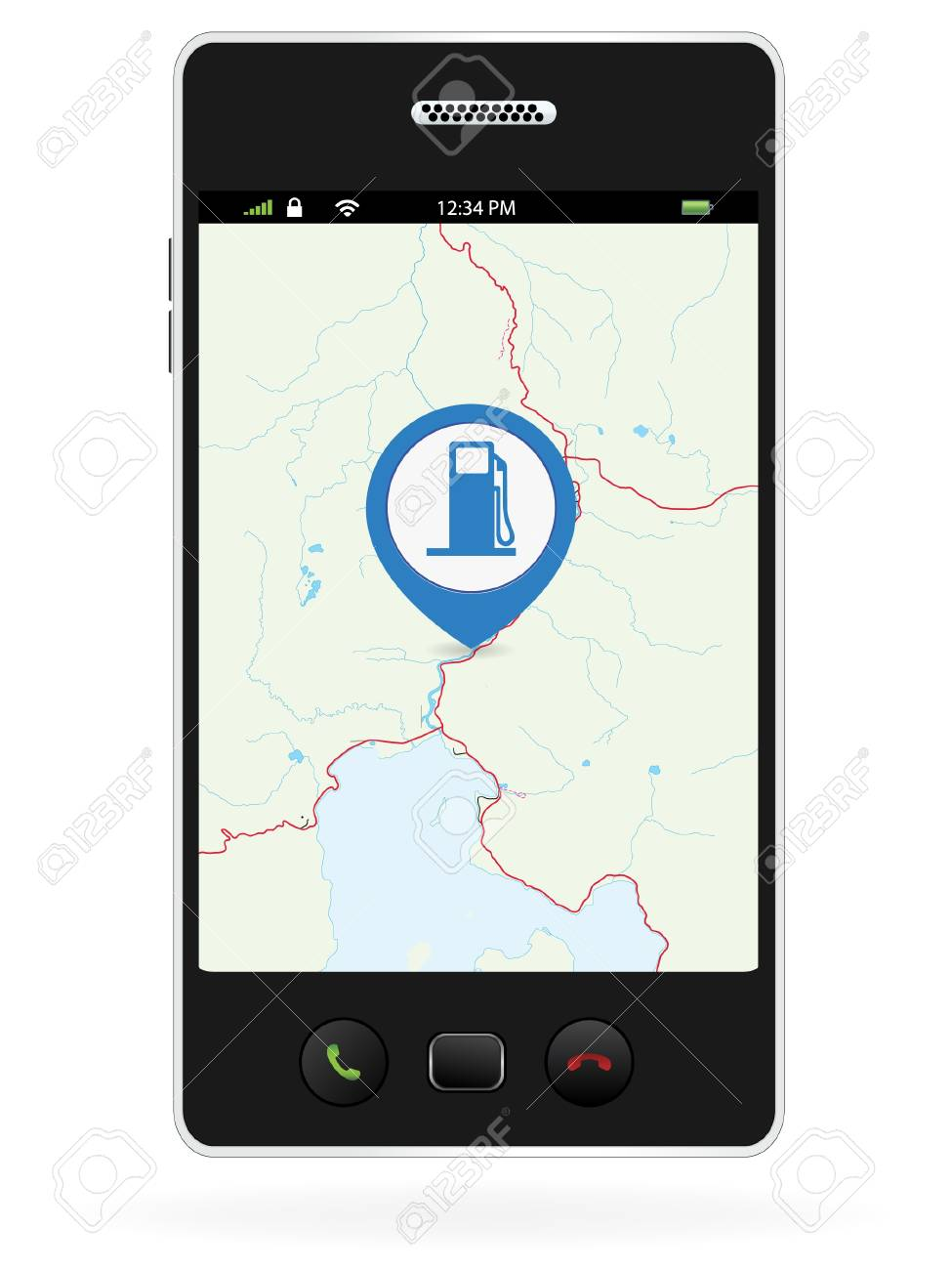 Navigate To The Closest Gas Station >> Gas Station Navigation Pins On Smart Phone