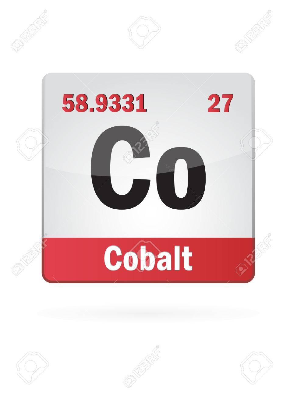Cobalt Symbol Illustration Icon Stock Vector - 23652176