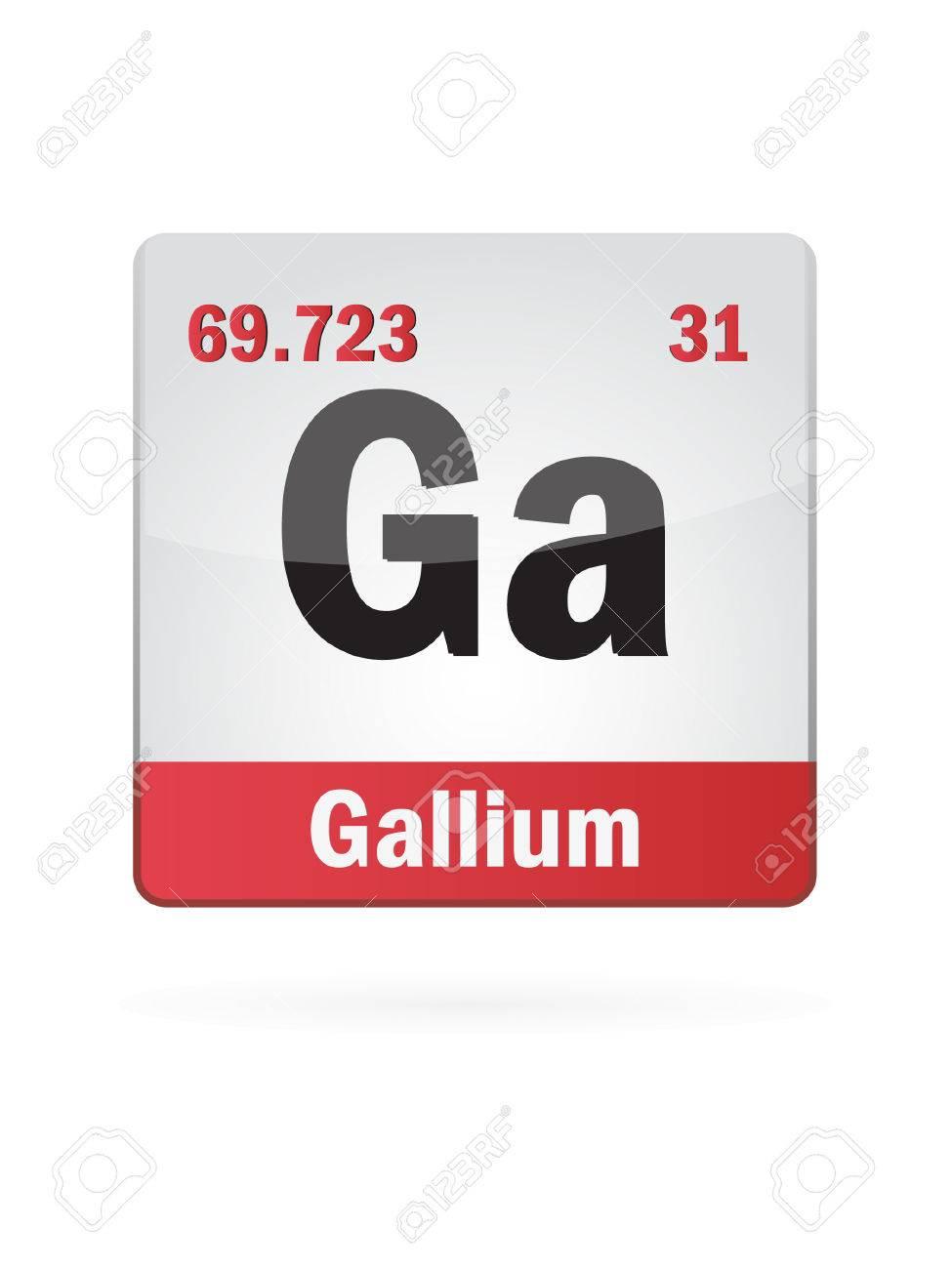 Gallium Symbol Illustration Icon Stock Vector - 23652241