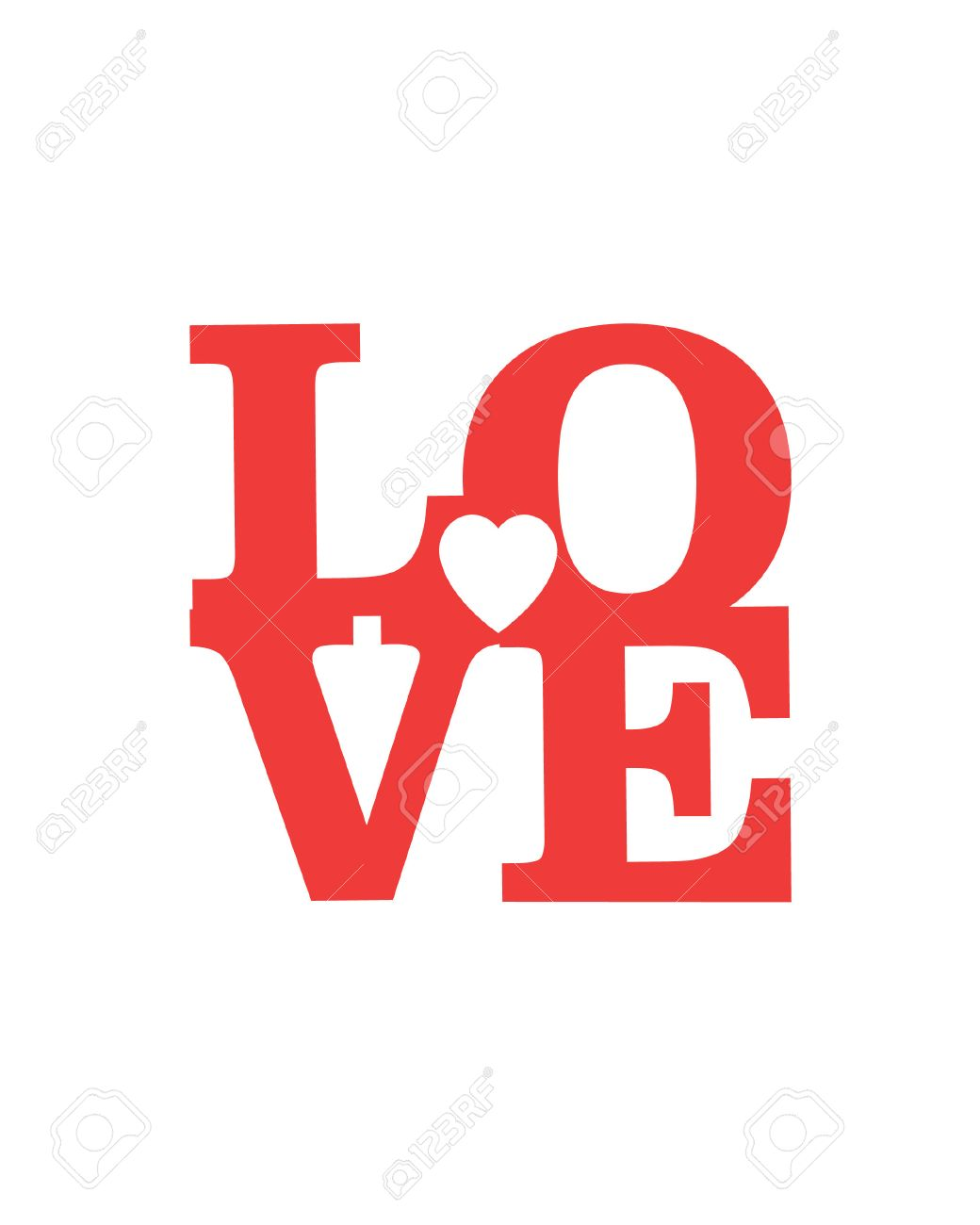 Love Happy Valentines Day Card Font Type Royalty Free Cliparts