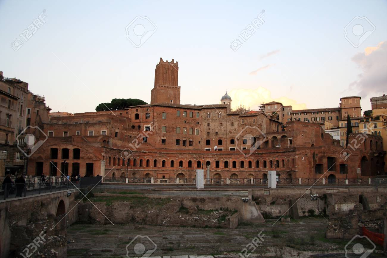 Ancient Trajan's Forum in Rome near coliseum (Italy) Stock Photo - 10009340