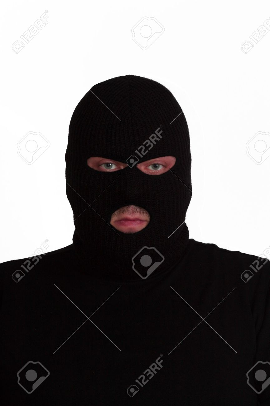 Criminal series 6 - convict wearing a ski mask (balaclava) Stock Photo -  635737 8b3444fed588