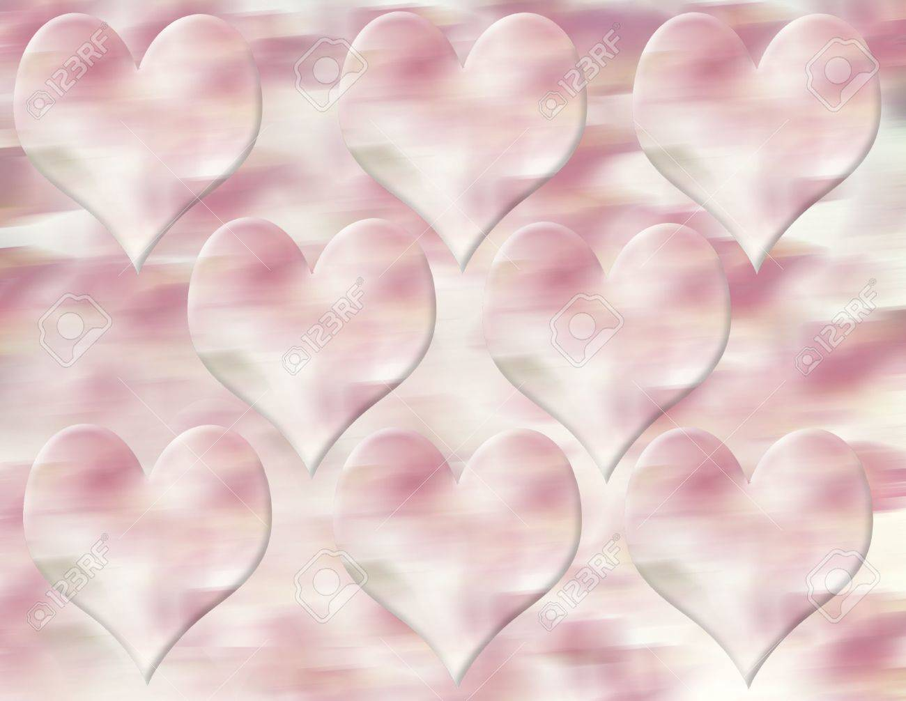 Pink Hearts Background Stock Photo - 452836