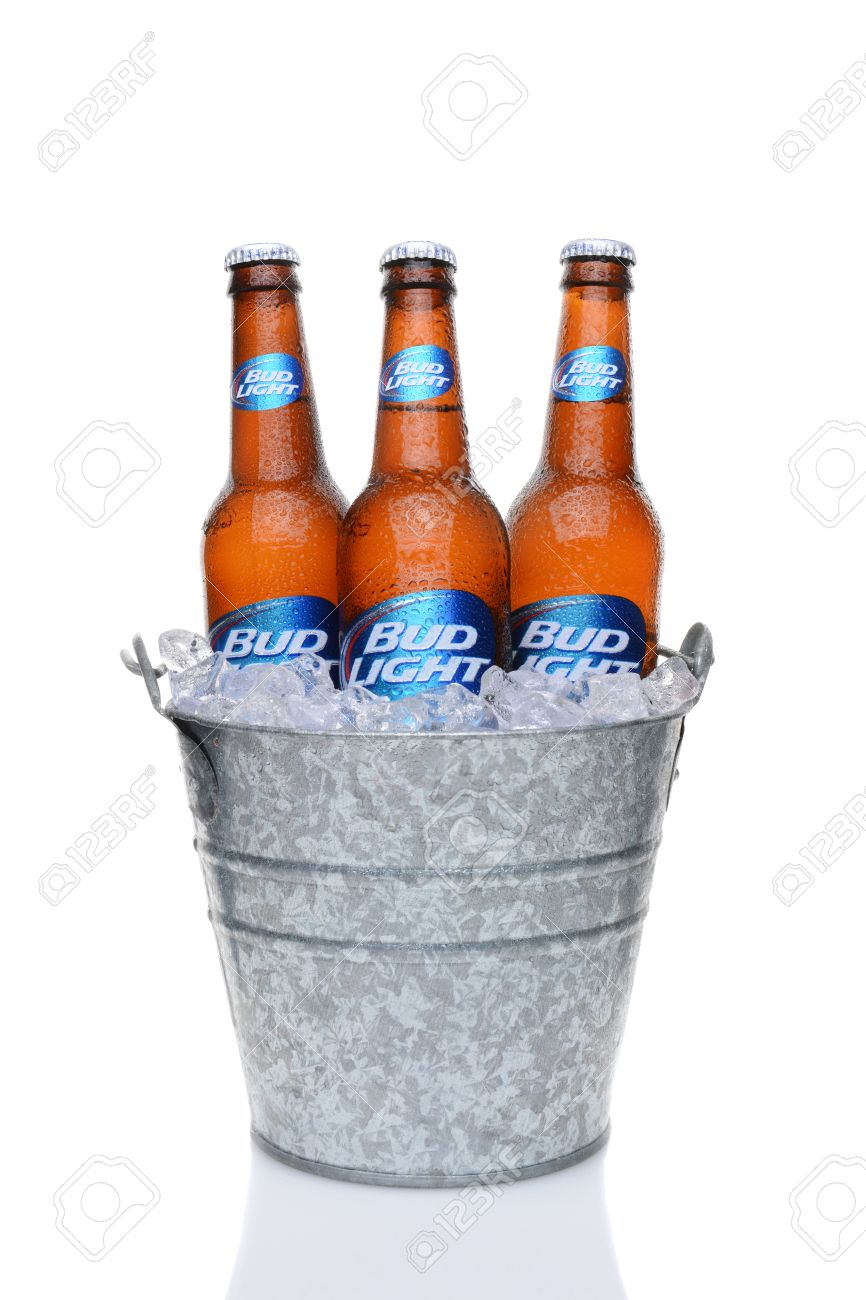 IRVINE, CA   MAY 27, 2014: Bud Light Bottles In A Bucket Of