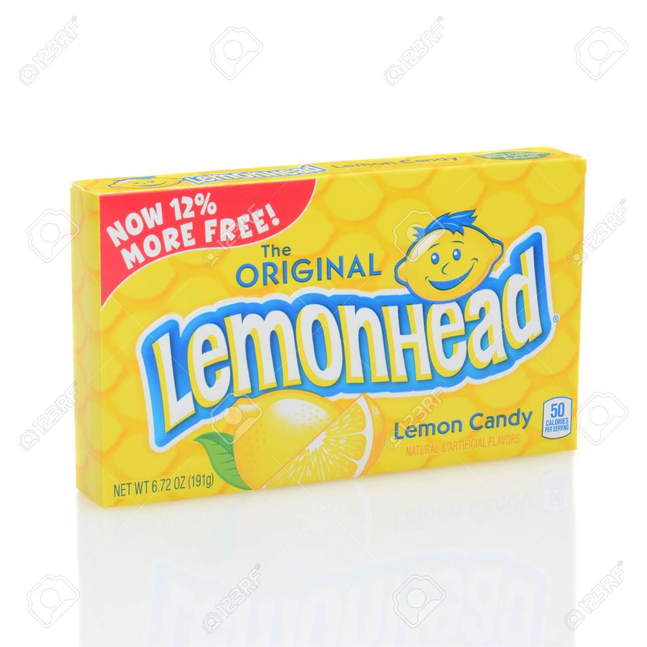 IRVINE, CALIFORNIA - DECEMBER 12, 2014: A box of Lemonhead Candy