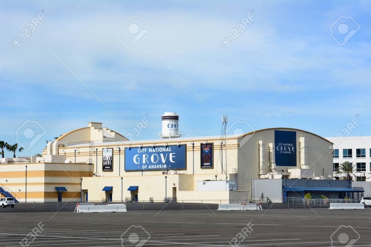 ANAHEIM, CA - FEBRUARY 11, 2015: The City National Grove of Anaheim,