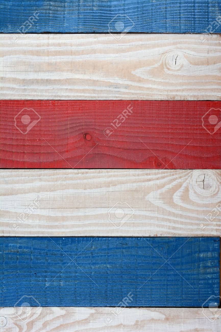 Patriotic background for 4th of July or Memorial Day or any American Holiday themed projects. Red White and Blue Boards Background. - 45139443