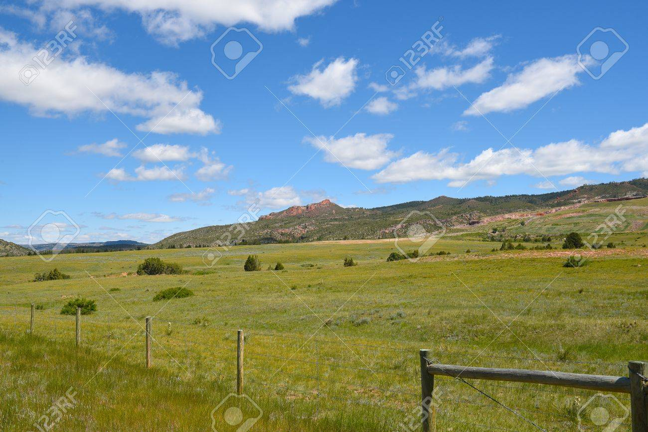 風光明媚な風景ワイオミング米国...