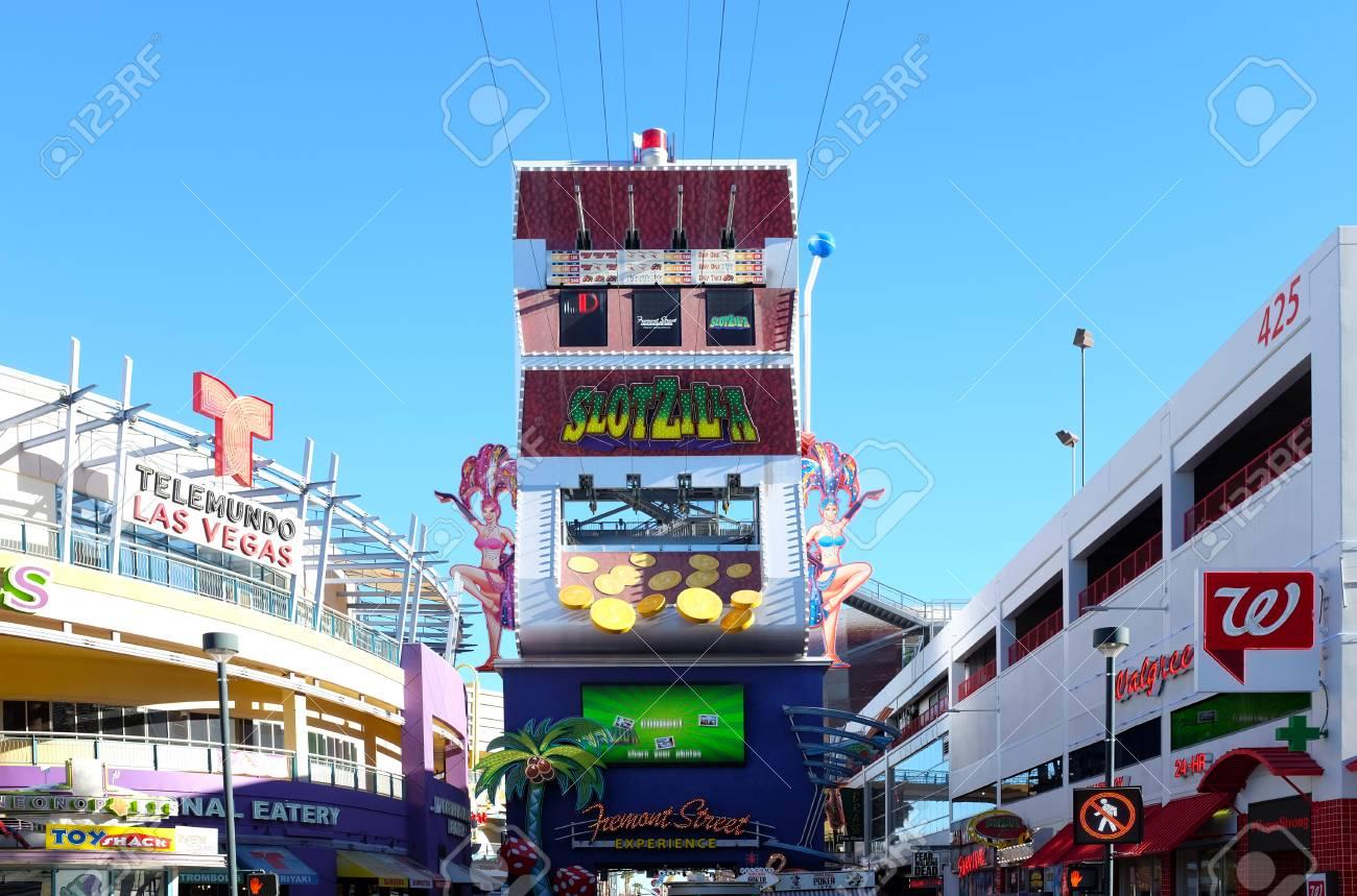 LAS VEGAS, NEVADA - DECEMBER 7, 2017: Slotzilla Las Vegas Zip ...