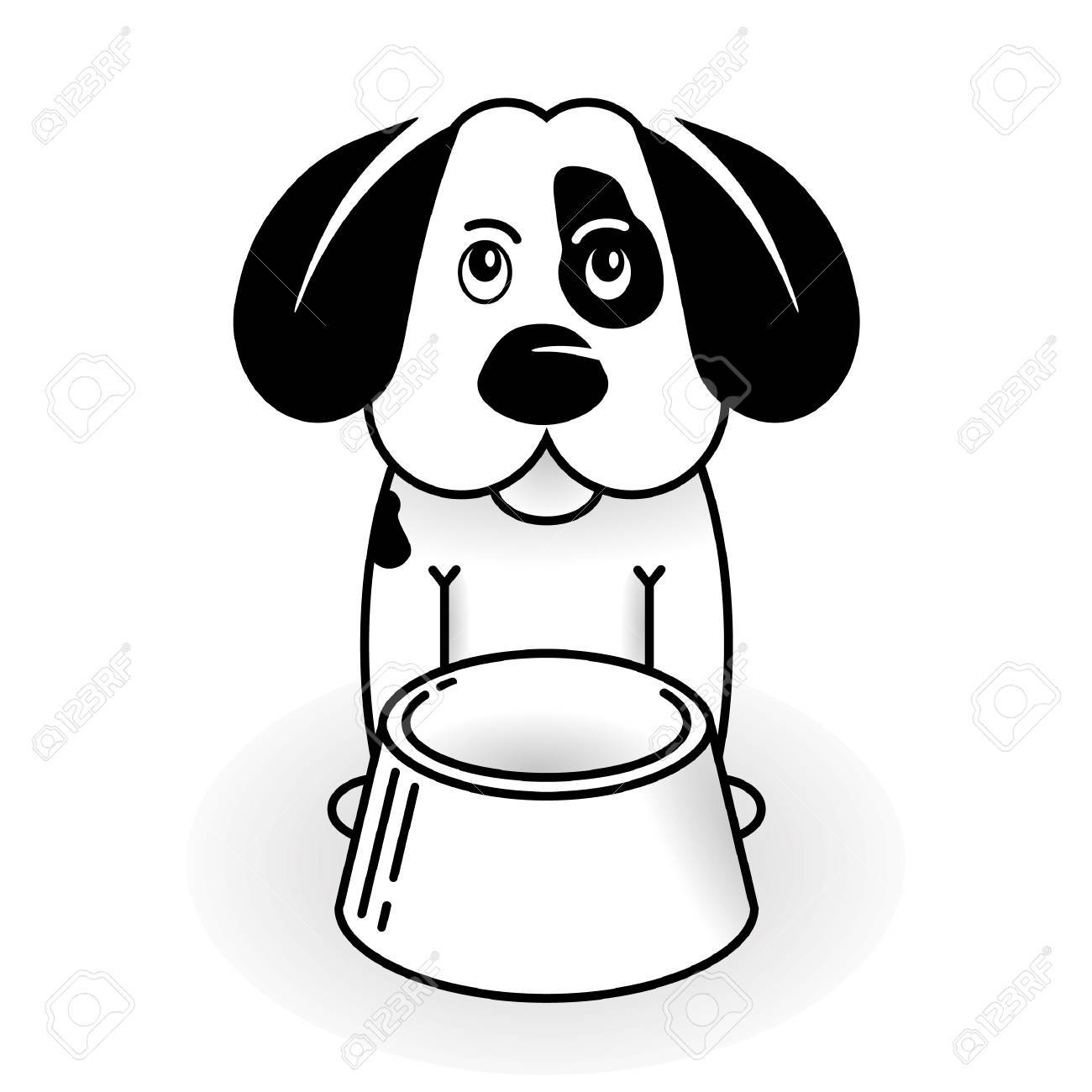 puppy-dog to be hungry Stock Vector - 6697095
