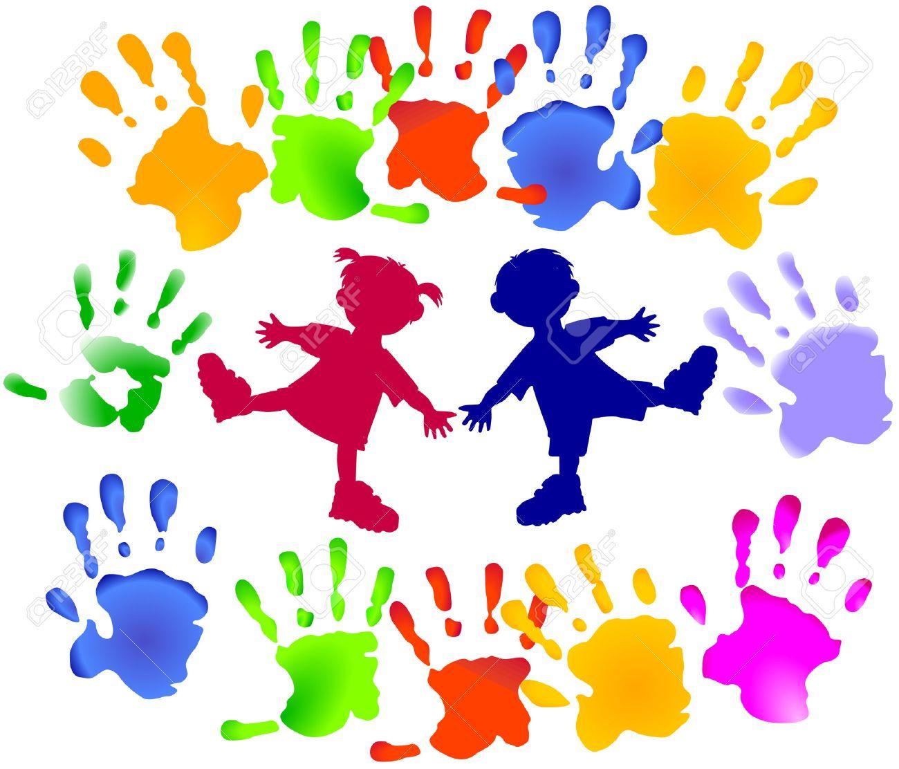 vector young children party - Images Of Preschool Children