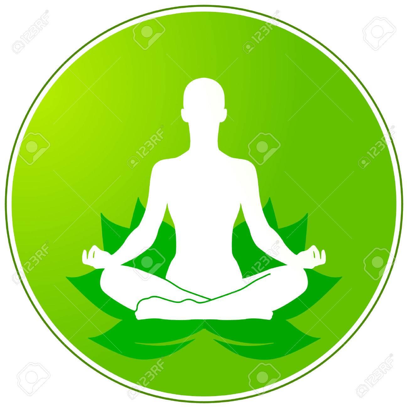 green yoga Stock Vector - 6967752