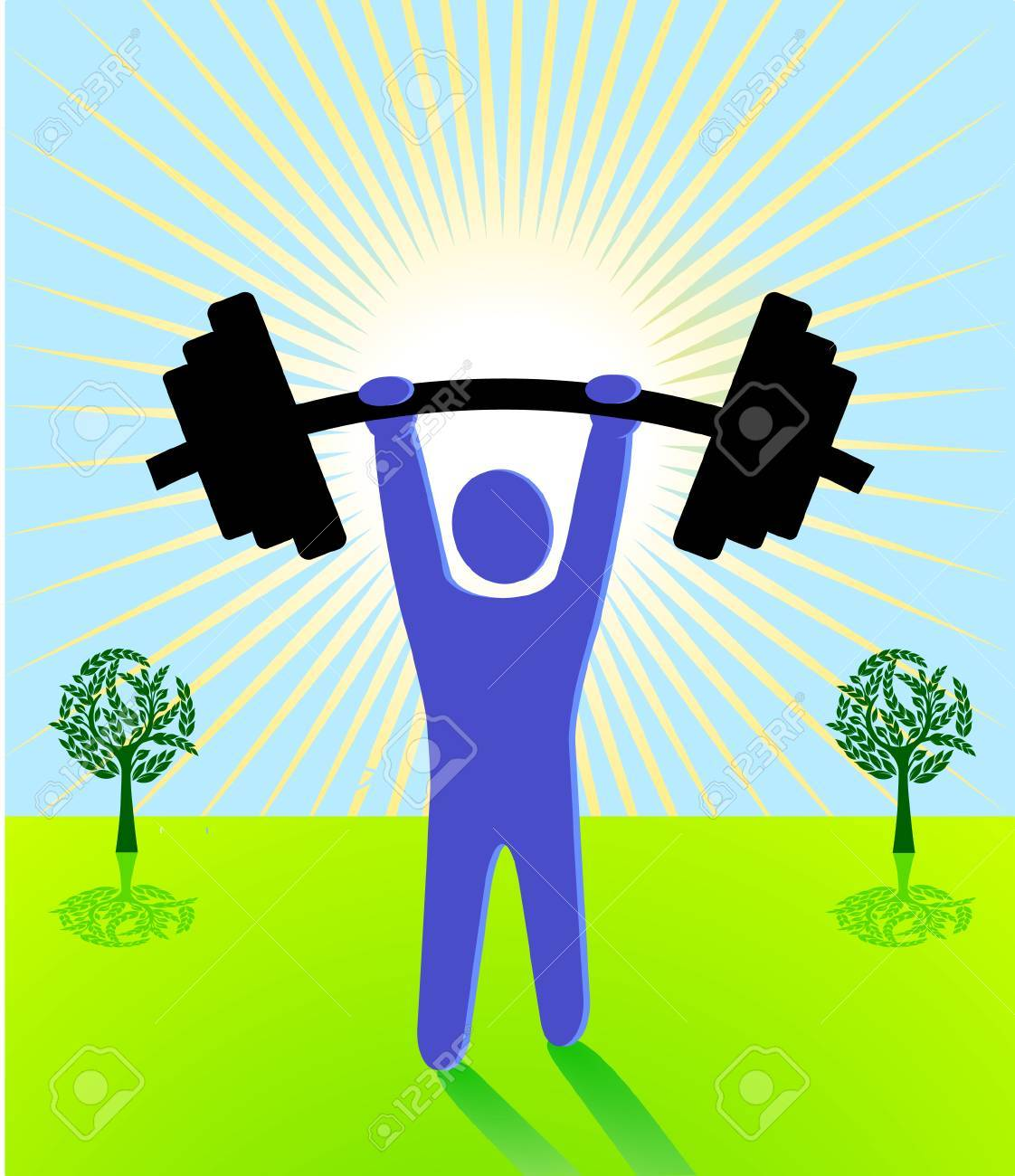 weight lifting Stock Vector - 7156807