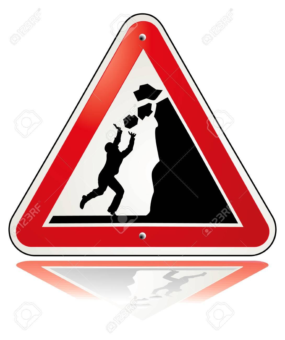 warning falling rocks - 7156808