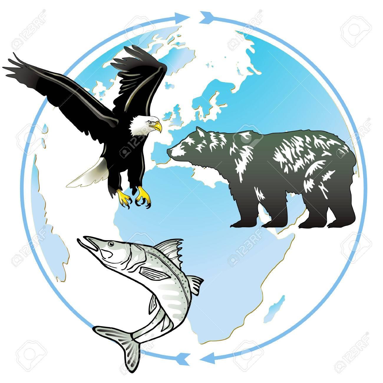 animal world natural heritage Stock Vector - 7222127