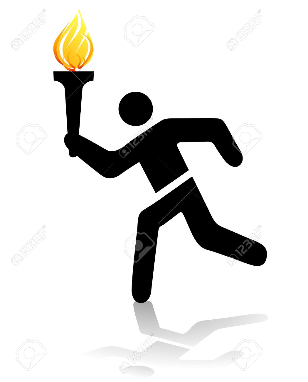 sports competition torch Stock Vector - 7296990