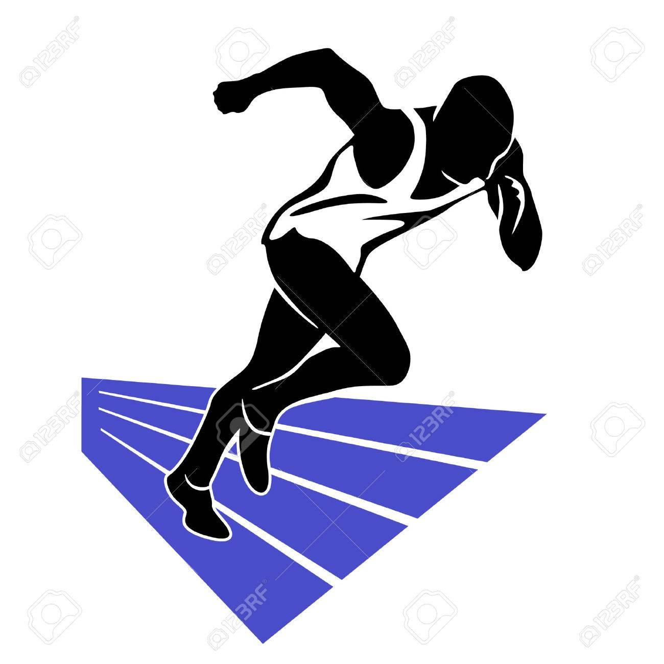 Runner Sprint Stock Vector - 7539843