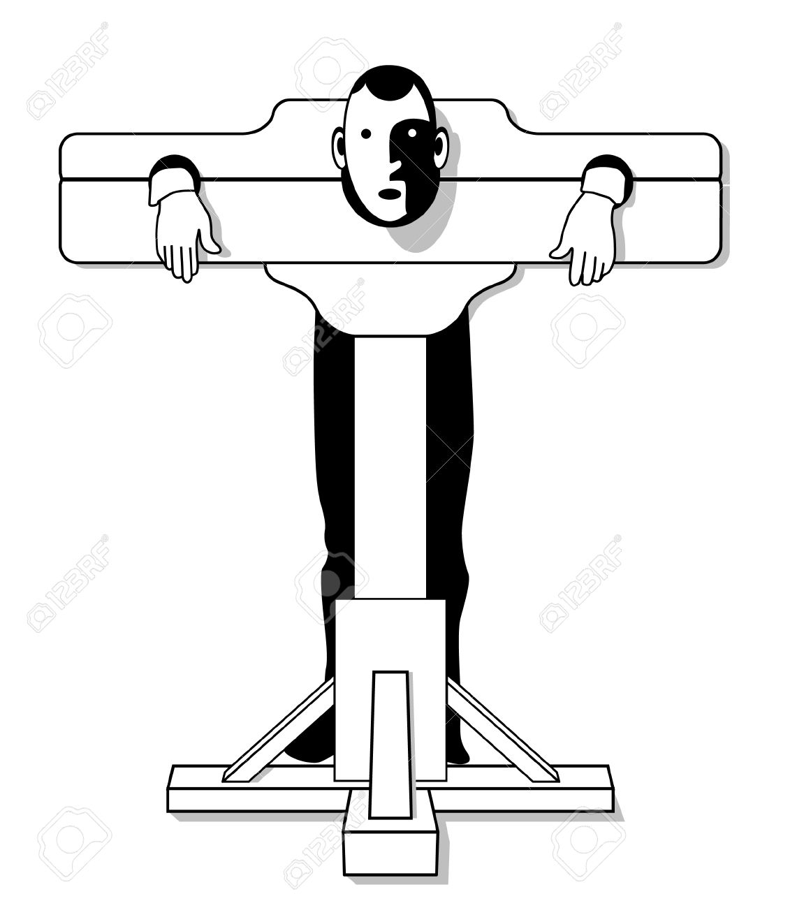Medieval Torture Device Royalty Free Cliparts Vectors And Stock Illustration Image 7586775